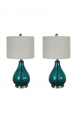 Blue Glass Lamp set