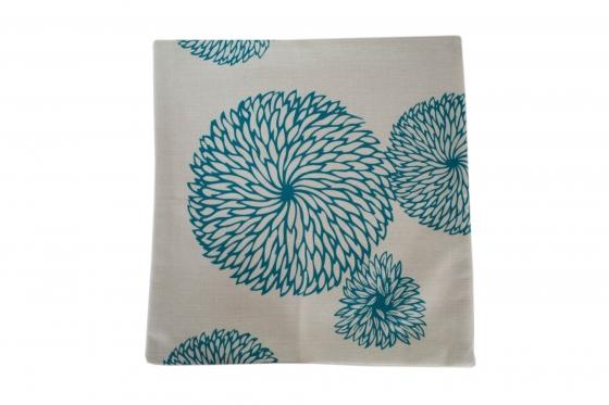 Blue Floral Pillow Cover main image