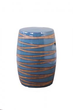 "18"" Blue Ceramic Stool  main image"