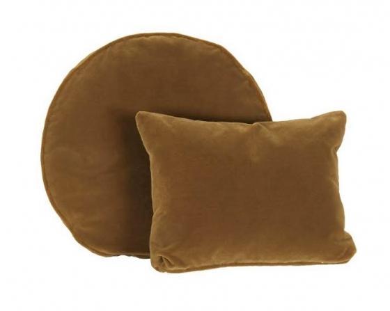 Velvet Mustard Pillows Set of 2 main image