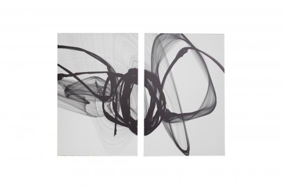 Black & White Abstract Duo main image