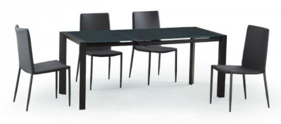 Carbon Dining Chairs and Dining Table w/ Leaf main image