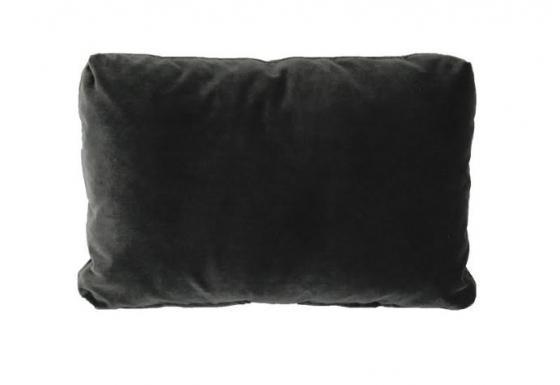 Charcoal Velvet Pillow main image