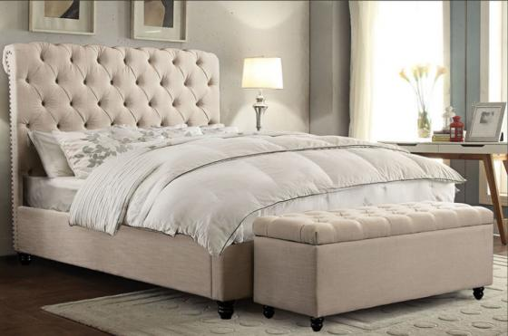 Chesterfield Desert Sand Queen Bed main image