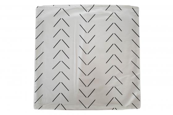 Black & White Chevron Pillow  main image