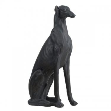 Matte Black Finish Stunning Dog Statue main image