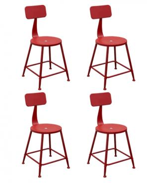 Set of 4 Douglas Antique Red Chair main image