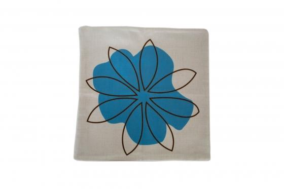 Abstract Blue Floral Pillow Cover main image