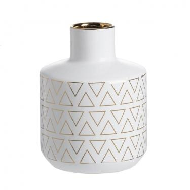 Geometric Diamond Pattern Vase - Small main image