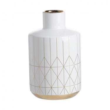 Geometric Diamond Pattern Vase - Large main image