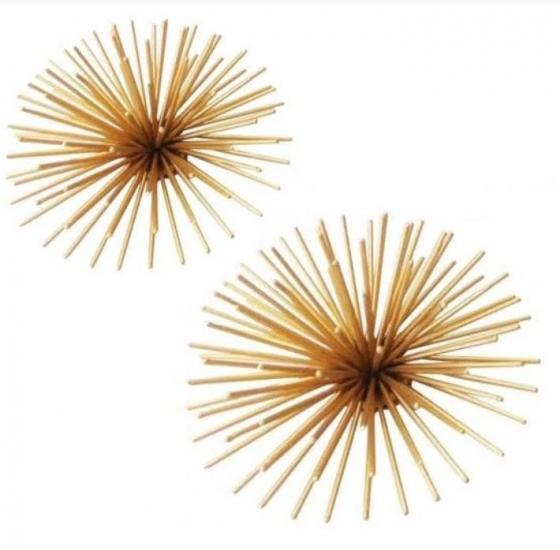 Gold Spray Decorative Ball Set main image