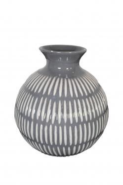 Grey & White Vase main image
