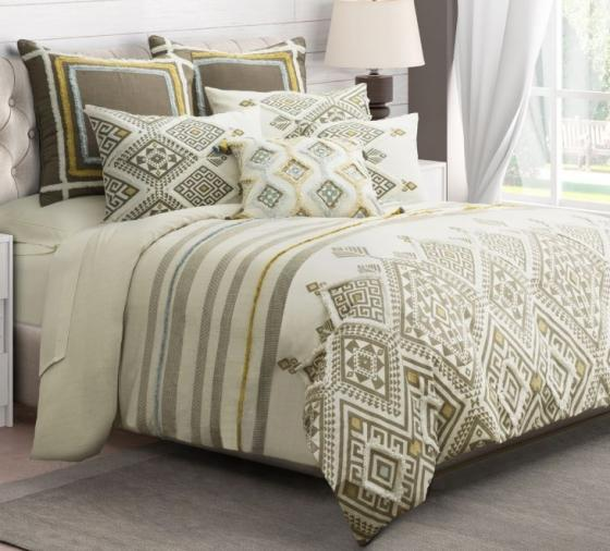 Jinx 8pc King Duvet Set Dove main image