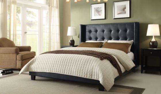 Madison Black Queen Platform Bed main image