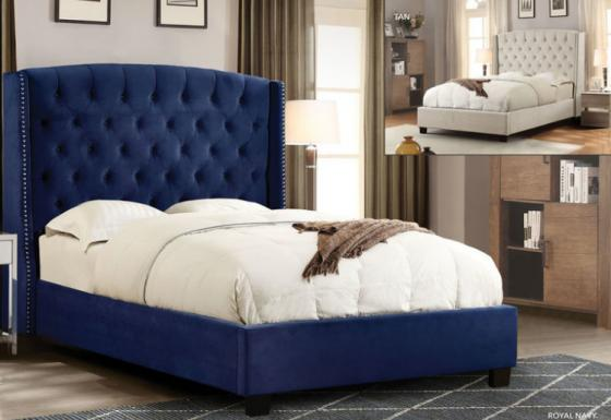 Majestic Royal Navy Queen Bed main image