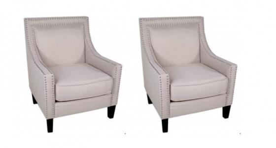 Light Pink Nailhead Chair Set main image