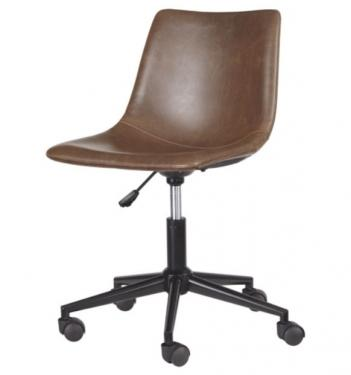 Brown Faux Leather Home Office Swivel Desk Chair  main image
