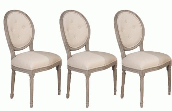 Set of 3 Oval Tufted Chairs main image