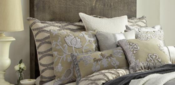 Oversized Euro Pillows in Fraying Linen main image