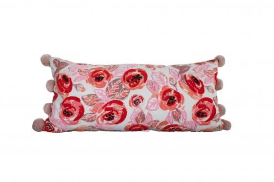 Pink Floral Pillow main image