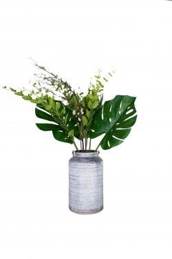 Grey Pot & Various Leaves main image