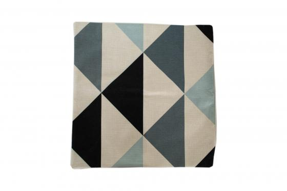 Blue Triangle Pillow Cover main image