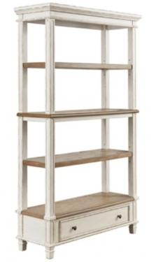 Antiqued two-tone finish Bookcase main image
