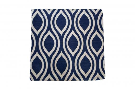 Wavy Blue Pillow Cover main image