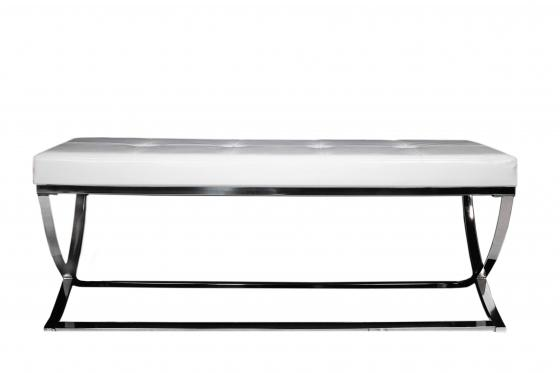 White & Chrome Bench main image