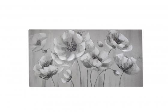 Horizontal White Floral Art main image