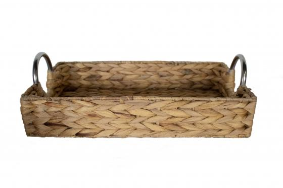 Metal Handle Wicker Tray main image