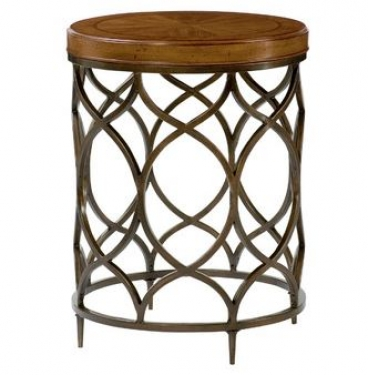 Round Bronze Side Table goes with 13775 main image