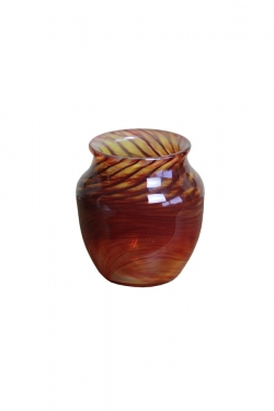 Red/Brown Hand Blown Vase  main image