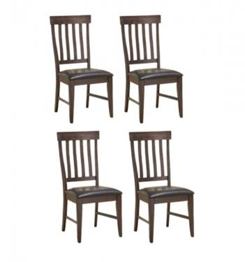 Set of 4 - Weathered Dining Chairs main image