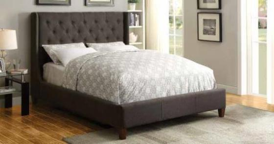 Knoll Brown Gray Queen Bed main image