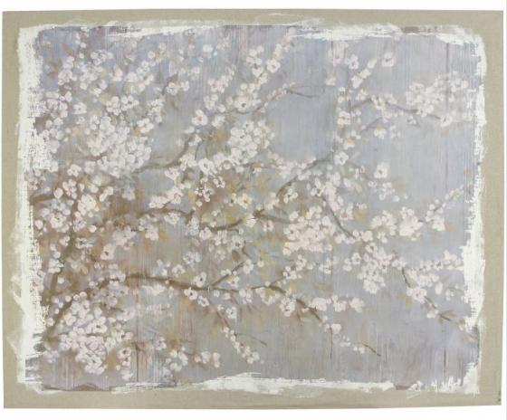 "60x48"" Large White Cherry Blossom Wall Art main image"