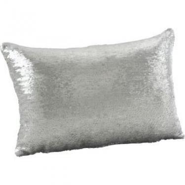 "Silver Sequin Mermaid Pillow 16""x24"" main image"