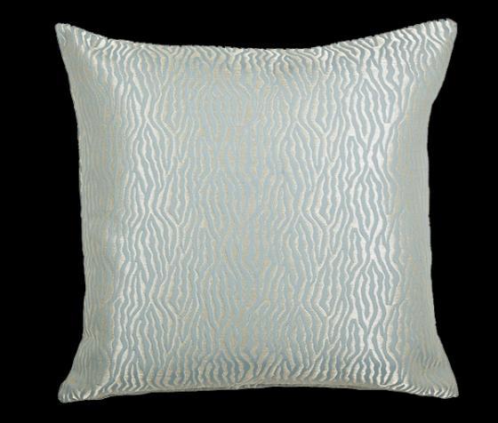 """Zebra Shimmer 22"""" Down Fill Pillow main image"""
