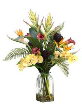 Large  Tropical Silk Flower Arrangement  main image