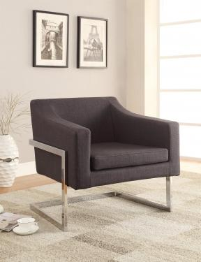 Gray Chickadee Accent Chair  main image