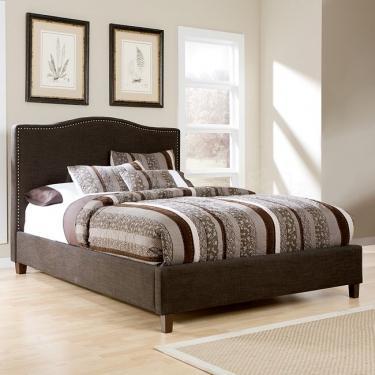 Queen Kasidon Dark Brown Bed