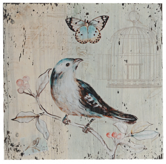 Blue Canary Art painted on wood main image