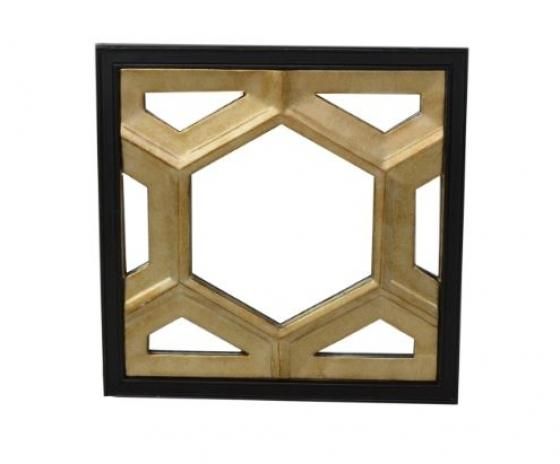 Black And Gold Hexagon Mirror main image