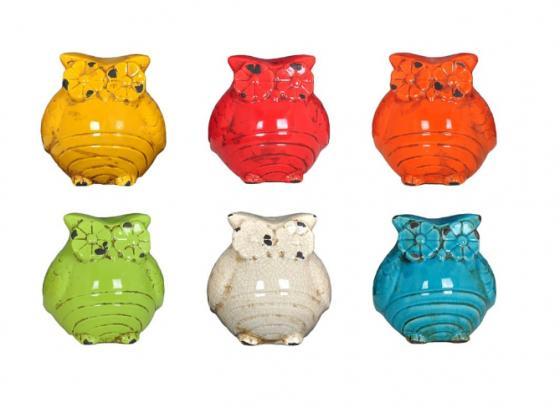 Multi Color Ceramic Owls (6) main image