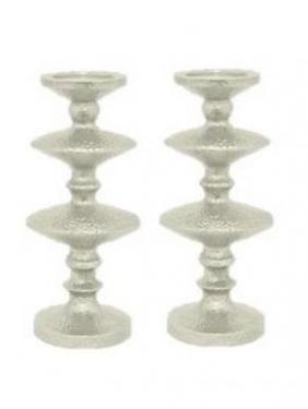 Short Silver Candle Holder Set main image