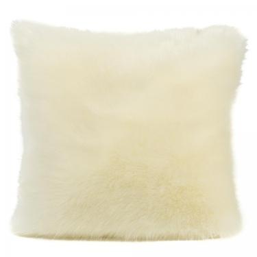 "Natural Faux Fox Pillow 18""x18"" main image"