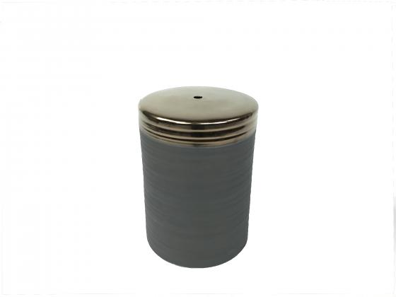 Gold Top Gray Garden Stool