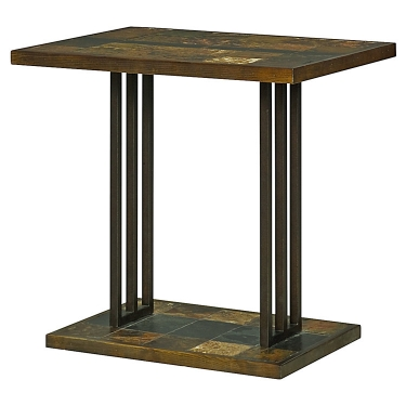 Slate & Steel Accent Table can work as night stand main image