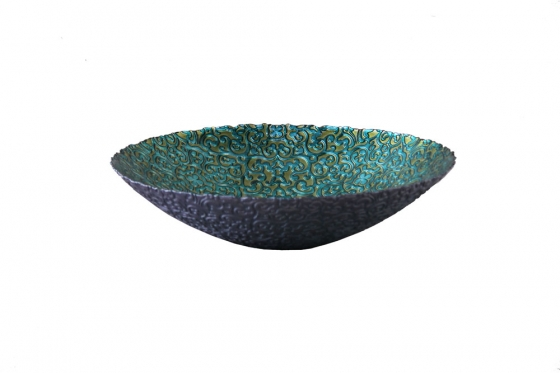 18x5 Turquoise Glass Bowl  Member Cost: $40.00 main image