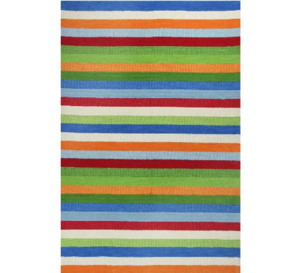 "Kidding Around Cool Stripes Rug 5'x7'6"" main image"